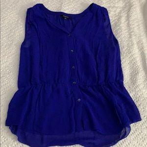 Babaton royal blue blouse